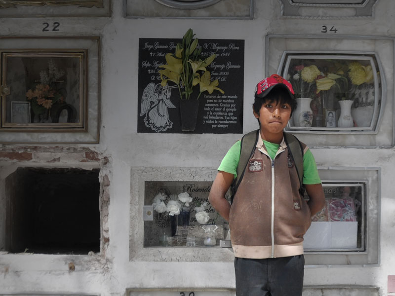 Portrait of José, a child at his working place